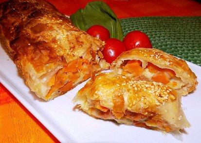 Batátovo-mrkvový závin